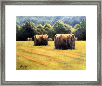 Hay Bales Framed Print by Janet King