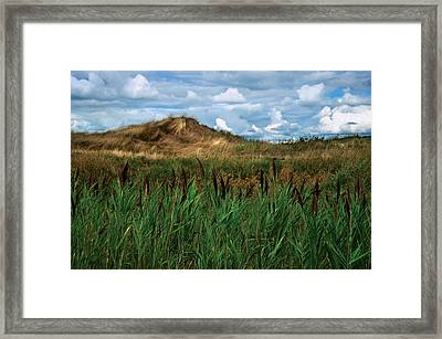 Hay Mound Framed Print by Mike Feraco