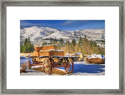Hay Wagon Framed Print by Donna Kennedy