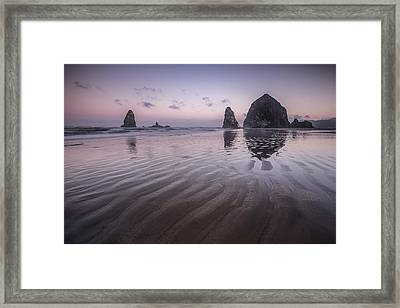 Haystack Glow Framed Print by Jon Glaser