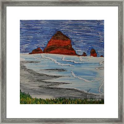 Haystack Framed Print by Marcia Weller-Wenbert