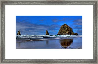 Haystack Rock And The Needles IIi Framed Print by David Patterson