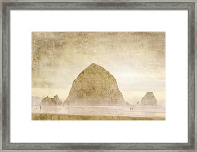 Haystack Rock Framed Print by Carol Leigh