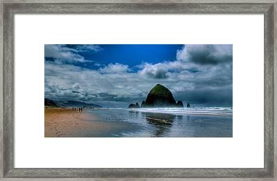 Haystack Rock Iv Framed Print by David Patterson