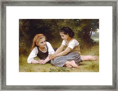 Hazelnuts Framed Print by William Bouguereau