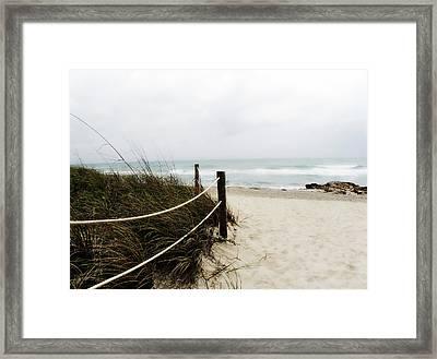 Hazy Beach Day Framed Print by Julie Palencia