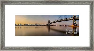 Hazy In Philly Framed Print by Abe Pacana
