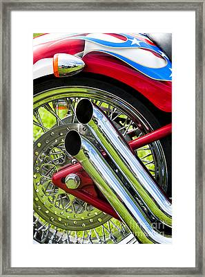 Hd Custom Drag Pipes Framed Print by Tim Gainey