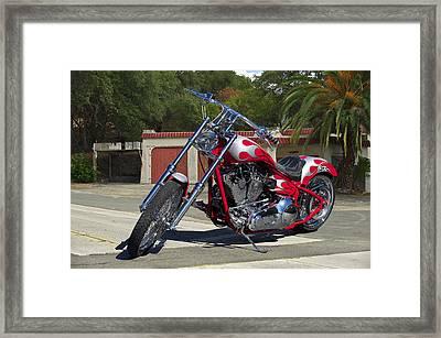 H.d. Motoworx Custom 4 Framed Print by Dave Koontz