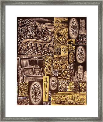 He Always Travels Alone Framed Print by Stuart Swartz