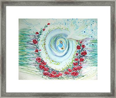 He Comes Softly Framed Print by Sarah Hornsby