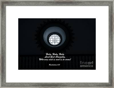 He Is Coming - Revelation 4  8 Framed Print by Ella Kaye Dickey