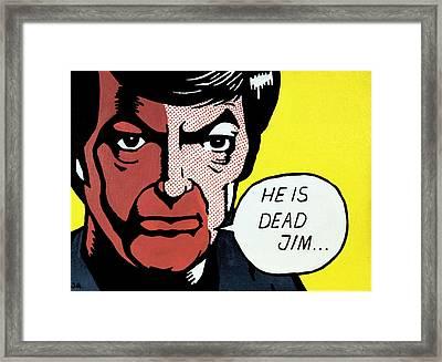 He Is Dead Jim Framed Print by Judith Groeger
