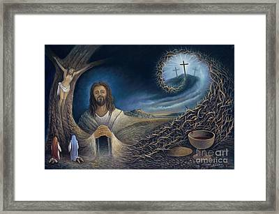 He Knew Yet He Went Through Framed Print by Ricardo Chavez-Mendez in Collaboration with Joyce Hodges