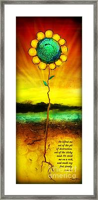 He Lifts Me Out Framed Print by Shevon Johnson