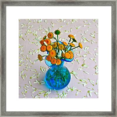 He Loves Me Bouquet Framed Print by Frozen in Time Fine Art Photography