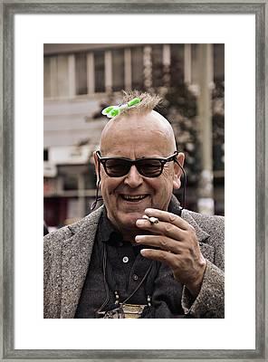 He Loves To Joke Framed Print by Gynt