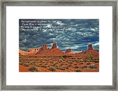 He Only Is My Rock Framed Print by Robert Bales