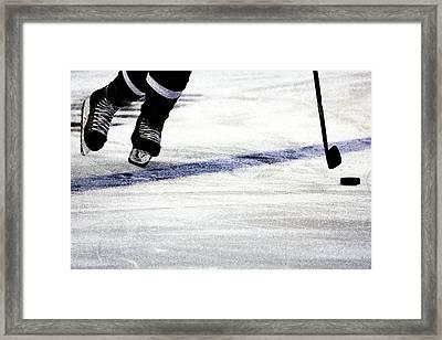 He Skates Framed Print by Karol Livote