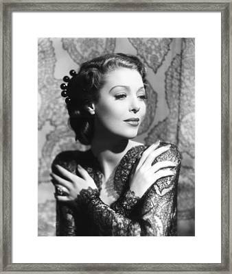 He Stayed For Breakfast, Loretta Young Framed Print by Everett