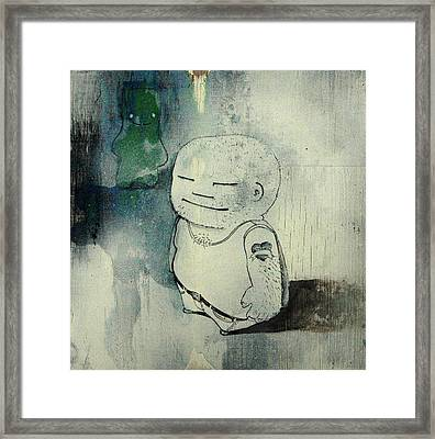 He Still Believed In His Imaginary Friend Framed Print by Konrad Geel