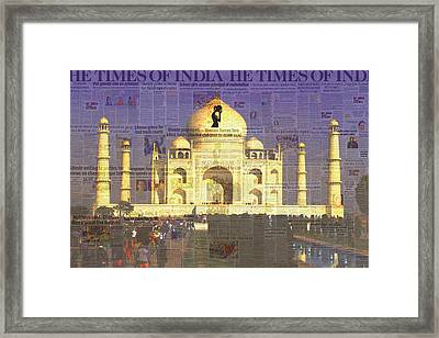 He Times Of India Framed Print by Chas Hauxby
