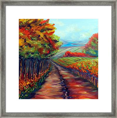He Walks With Me Framed Print by Meaghan Troup