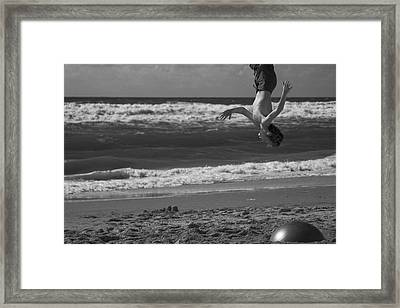 Head Above Heels Framed Print by Jean-Philippe Jouve