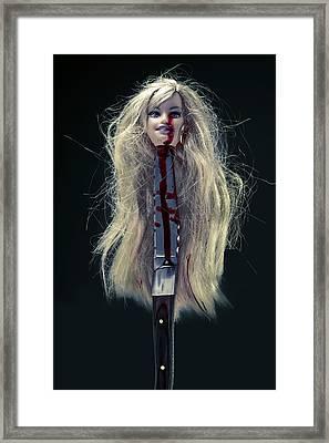 Head And Knife Framed Print by Joana Kruse