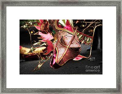 Head Of A Dragon At Leeds Carnival Framed Print by Deborah Benbrook