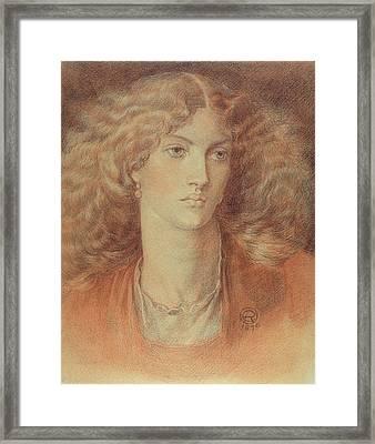 Head Of A Woman Called Ruth Herbert Framed Print by Dante Charles Gabriel Rossetti