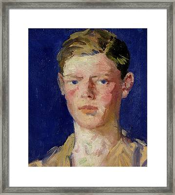 Head Of A Young Man Framed Print by Francis Campbell Boileau Cadell