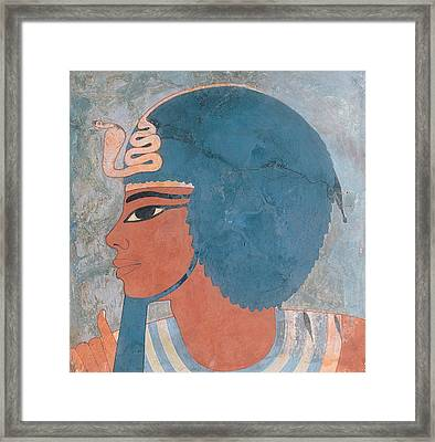 Head Of Amenophis IIi From The Tomb Of Onsou, 18th Dynasty Framed Print by Egyptian 18th Dynasty