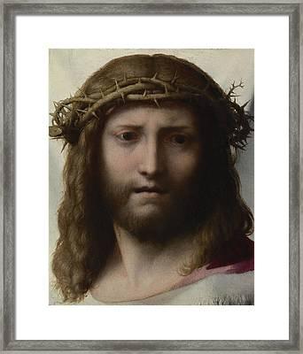 Head Of Christ Framed Print by Correggio