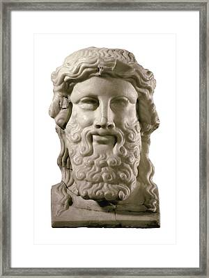 Head Of Hermes. 4th C. Bc. Classical Framed Print by Everett