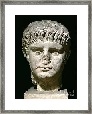 Head Of Nero Framed Print by Anonymous