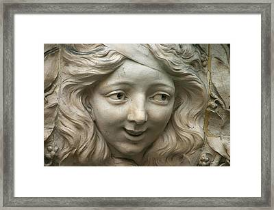 Head Of Polina Framed Print by A Morddel