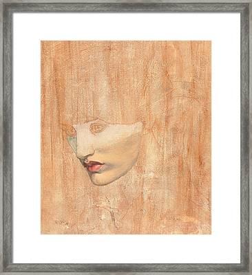 Head Of Proserpine Framed Print by Dante Gabriel Charles Rossetti