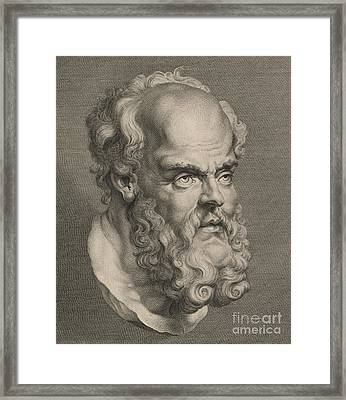 Head Of Socrates Framed Print by Anonymous