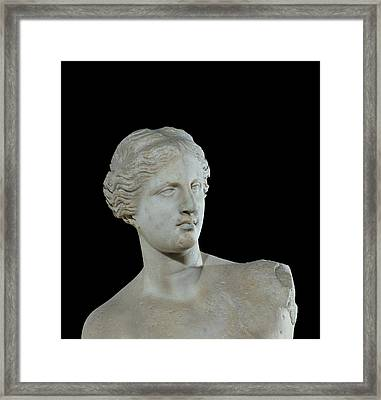 Head Of The Venus De Milo Framed Print by Greek School