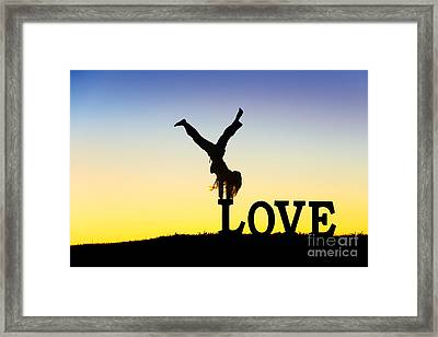 Head Over Heels In Love Framed Print by Tim Gainey