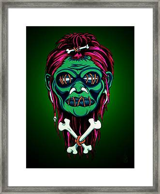 Headhunter Framed Print by Steve Hartwell