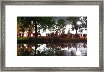 Heading Home Along The Lake Framed Print by Paddy Shaffer