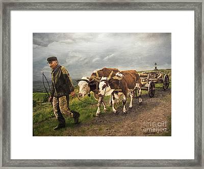 Heading Home Framed Print by Deborah Strategier