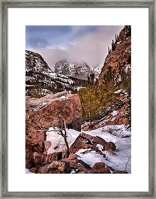 Heading To Loch Vale  Framed Print by Steven Reed