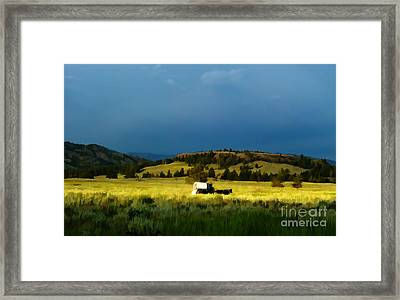 Heading West Framed Print by Edward Fielding