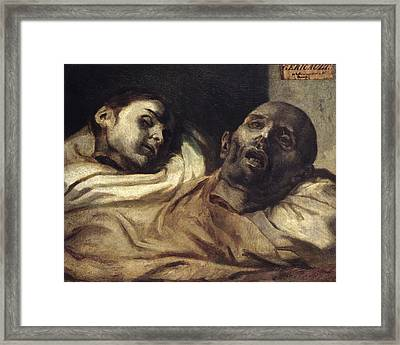 Heads Of Torture Victims, Study For The Raft Of The Medusa  Framed Print by Theodore Gericault