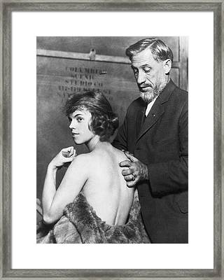 Healing For Ziegfeld Dancer Framed Print by Underwood Archives