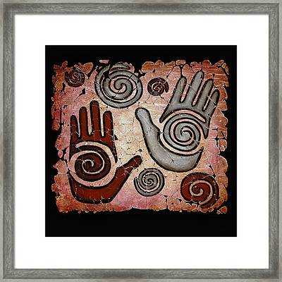 Healing Hands Fresco Framed Print by Art OLena