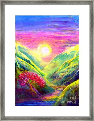 Healing Light Framed Print by Jane Small